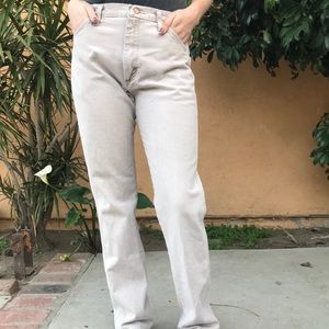 Vintage Wrangler high waisted tan color jeans